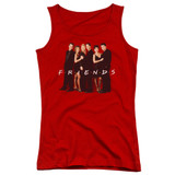 Friends Cast In Black Junior Women's Tank Top T-Shirt Red
