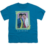 Friends 80S Flashback Youth T-Shirt Turquoise