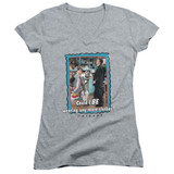 Friends Any More Clothes Junior Women's V-Neck T-Shirt Athletic Heather