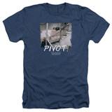 Friends Pivot Adult Heather T-Shirt Navy