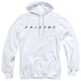 Friends Logo Adult Pullover Hoodie Sweatshirt White