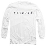 Friends Logo Adult Long Sleeve T-Shirt White