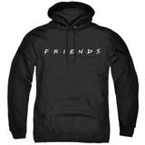 Friends Logo Adult Pullover Hoodie Sweatshirt Black