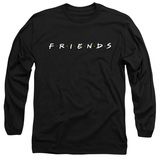 Friends Logo Adult Long Sleeve T-Shirt Black