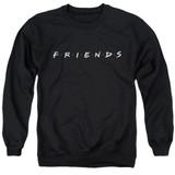 Friends Logo Adult Crewneck Sweatshirt Black