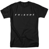 Friends Logo Adult 18/1 T-Shirt Black