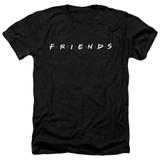 Friends Logo Adult Heather T-Shirt Black