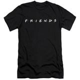 Friends Logo Adult 30/1 T-Shirt Black