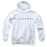 Friends Logo Youth Pullover Hoodie Sweatshirt White