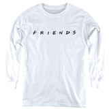 Friends Logo Youth Long Sleeve White