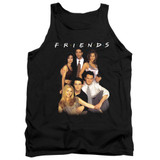 Friends Stand Together Adult Tank Top T-Shirt Black