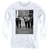 Friends Walk The Streets Youth Long Sleeve White