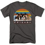 Friends Soda Fountain Adult 18/1 T-Shirt Charcoal