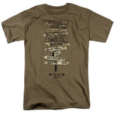 MASH Signs Adult 18/1 T-Shirt Safari Green