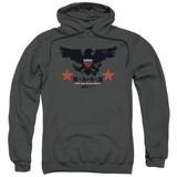 MASH Eagle Adult Pullover Hoodie Sweatshirt Charcoal
