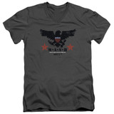 MASH Eagle Adult V-Neck T-Shirt Charcoal