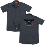 MASH Eagle(Back Print) Adult Work Shirt Charcoal