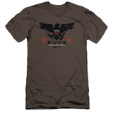 MASH Eagle Premium Canvas Adult Slim Fit 30/1 T-Shirt Charcoal