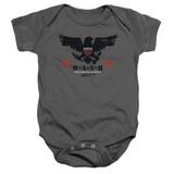 MASH Eagle Baby Onesie T-Shirt Charcoal