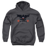 MASH Eagle Youth Pullover Hoodie Sweatshirt Charcoal