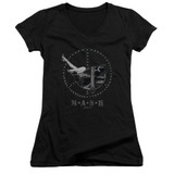 MASH Great Helmet Junior Women's V-Neck T-Shirt Black