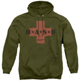 MASH MASH Cross Adult Pullover Hoodie Sweatshirt Military Green