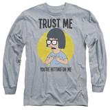 Bob's Burgers Trust Me Adult Long Sleeve T-Shirt Athletic Heather