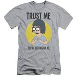 Bob's Burgers Trust Me Adult 30/1 T-Shirt Athletic Heather