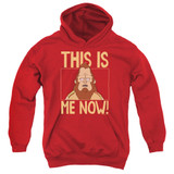 Bob's Burgers This Is Me Youth Pullover Hoodie Sweatshirt Red