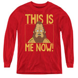 Bob's Burgers This Is Me Youth Long Sleeve T-Shirt Red