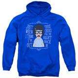 Bob's Burgers Pull Me In Adult Pullover Hoodie Sweatshirt Royal Blue