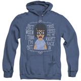 Bob's Burgers Pull Me In Adult Heather Hoodie Sweatshirt Royal Blue