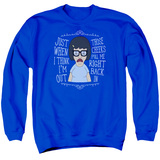 Bob's Burgers Pull Me In Adult Crewneck Sweatshirt Royal Blue