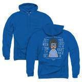 Bob's Burgers Pull Me In (Back Print) Adult Zipper Hoodie Sweatshirt Royal Blue