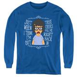 Bob's Burgers Pull Me In Youth Long Sleeve T-Shirt Royal Blue