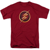 The Flash Chest Logo Adult 18/1 T Shirt Cardinal