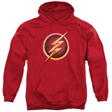 The Flash Chest Logo Adult Pullover Hoodie Sweatshirt Red