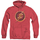 The Flash Chest Logo Adult Heather Hoodie Sweatshirt Red