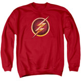 The Flash Chest Logo Adult Crewneck Sweatshirt Red