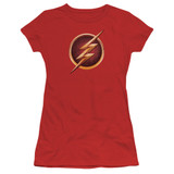 The Flash Chest Logo Junior Women's T-Shirt Red