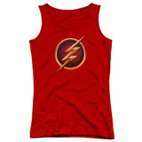 The Flash Chest Logo Junior Women's Tank Top T-Shirt Red
