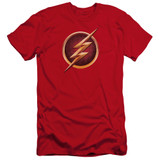 The Flash Chest Logo Premium Adult 30/1 T-Shirt Red