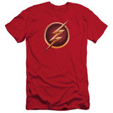 The Flash Chest Logo Adult 30/1 T-Shirt Red
