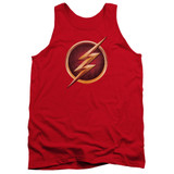 The Flash Chest Logo Adult Tank Top T-Shirt Red