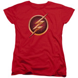 The Flash Chest Logo Women's T-Shirt Red