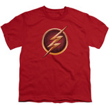 The Flash Chest Logo Youth T-Shirt Red