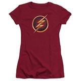 The Flash Chest Logo Junior Women's T-Shirt Cardinal