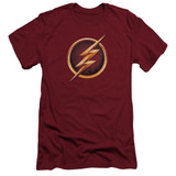 The Flash Chest Logo Adult 30/1 T-Shirt Cardinal