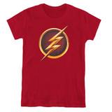 The Flash Chest Logo Women's T-Shirt Cardinal