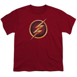 The Flash Chest Logo Youth T-Shirt Cardinal